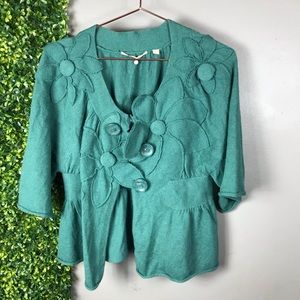 Knitted and Knotted Appliqué Cardigan